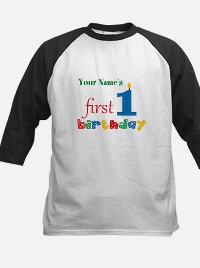 First Birthday - Personalized Kids Baseball Jersey