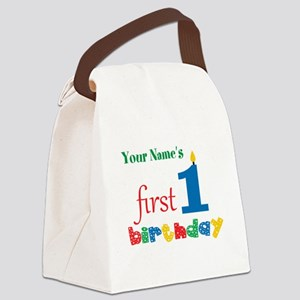 First Birthday - Personalized Canvas Lunch Bag
