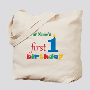 First Birthday - Personalized Tote Bag
