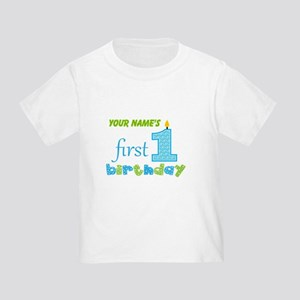 First Birthday - Personalized Toddler T-Shirt