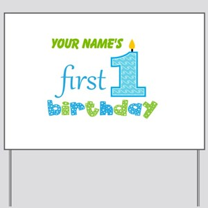 first birthday personalized yard sign