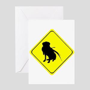 Hunting Labrador Retriever with Phe Greeting Cards