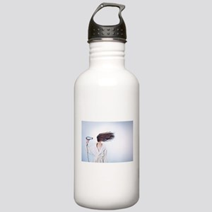 pastel woman blow dryi Stainless Water Bottle 1.0L