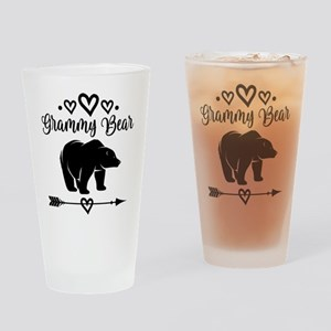 Grammy Bear Grandma Gift Drinking Glass