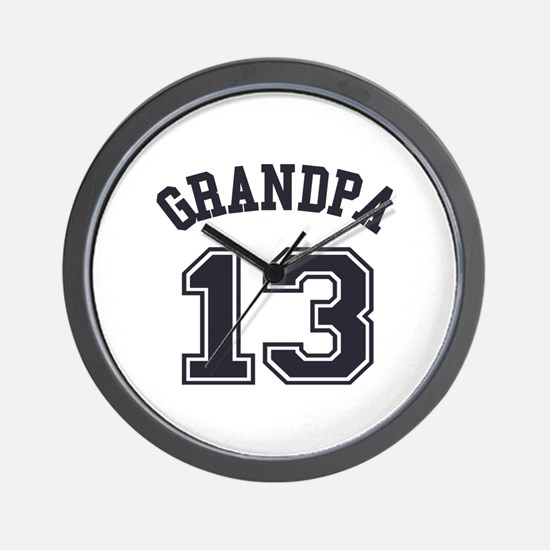 Grandpa's Uniform No. 13 Wall Clock