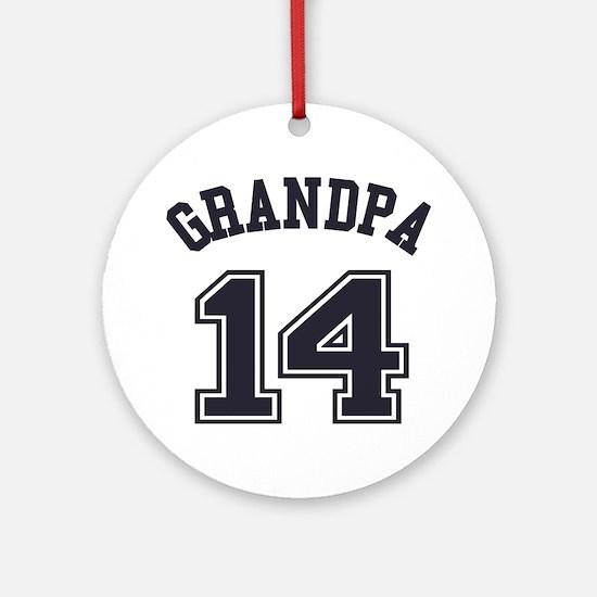 Grandpa's Uniform No. 14 Round Ornament
