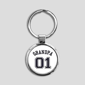 Grandpa's Uniform No. 01 Round Keychain