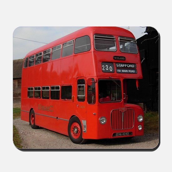 Red double decker bus Mousepad