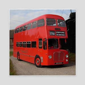 Red double decker bus Queen Duvet