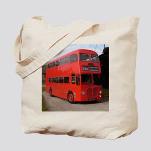 Red double decker bus Tote Bag