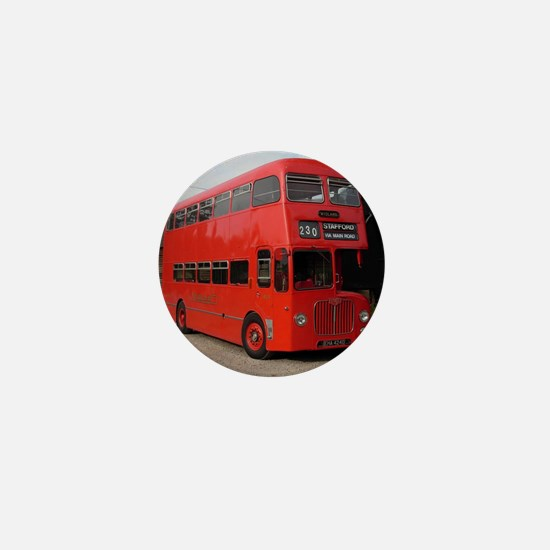 Red double decker bus Mini Button