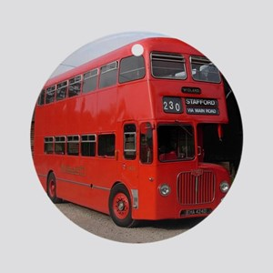 Red double decker bus Round Ornament