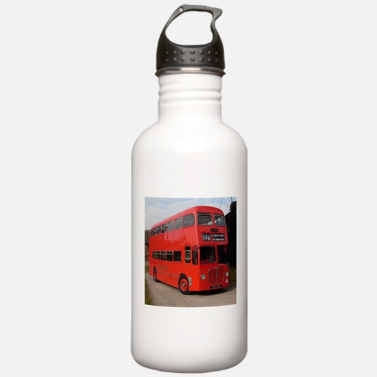 Red double decker bus Water Bottle