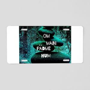 Om Mani Padme Hum Aluminum License Plate