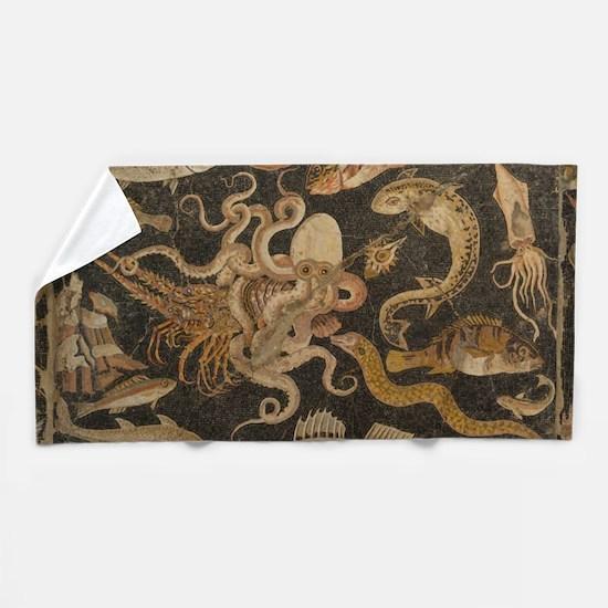 Pompeii Mosaic Beach Towel