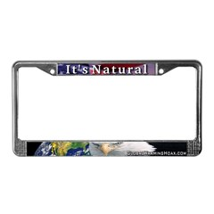 """It's Natural"" License Plate Frame"
