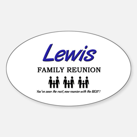 Lewis Family Reunion Oval Decal