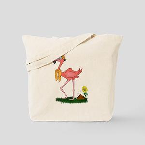 Flamingo Droppings Tote Bag