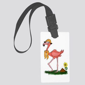 Flamingo Droppings Large Luggage Tag