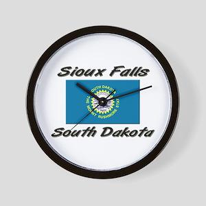 Sioux Falls South Dakota Wall Clock