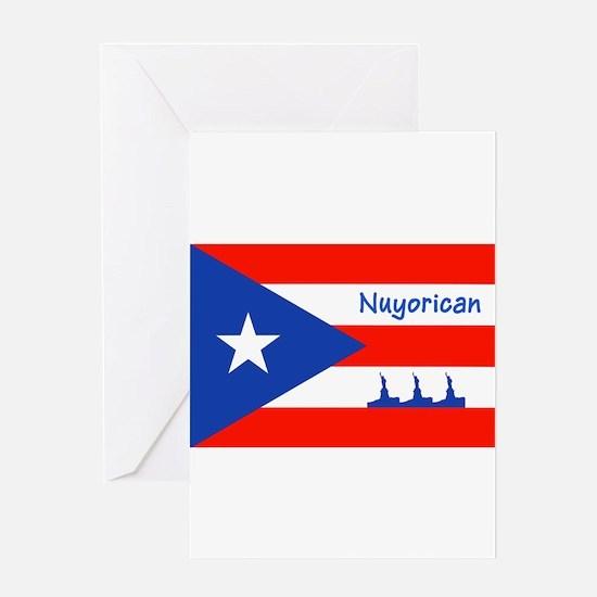 Nuyorican Statue of Liberty New Yor Greeting Cards