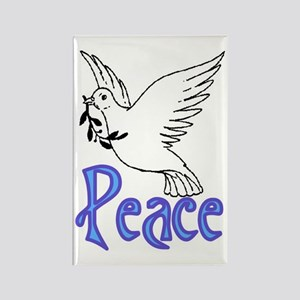 PEACE DOVE #3 Rectangle Magnet