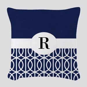 Navy Collection Woven Throw Pillow