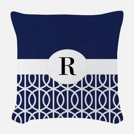 Navy Collection Woven Throw Pillow