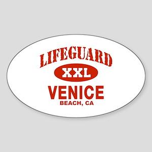 Lifeguard Venice Beach Oval Sticker
