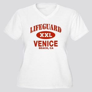 Lifeguard Venice Beach Women's Plus Size V-Neck T