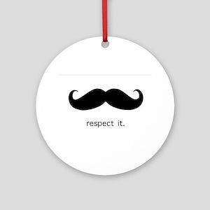 Respect the 'Stache Ornament (Round)