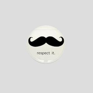 Respect the 'Stache Mini Button