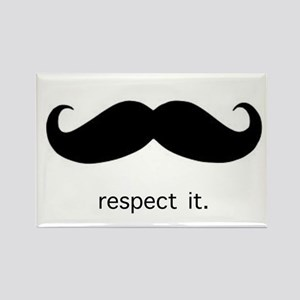 Respect the 'Stache Magnets