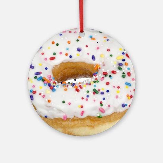 Cute Donuts Round Ornament