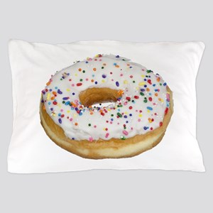 white rainbow sprinkles donut photo Pillow Case