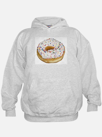 white rainbow sprinkles donut photo Hoodie