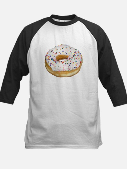 white rainbow sprinkles donut phot Baseball Jersey