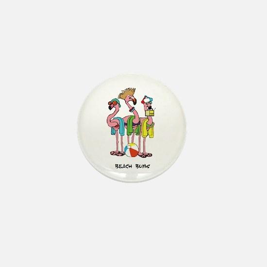 Flamingo Beach Bums Mini Button