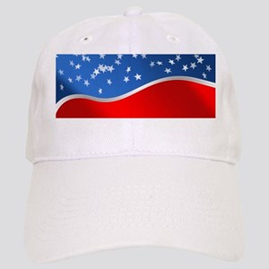 abstract american flag Cap