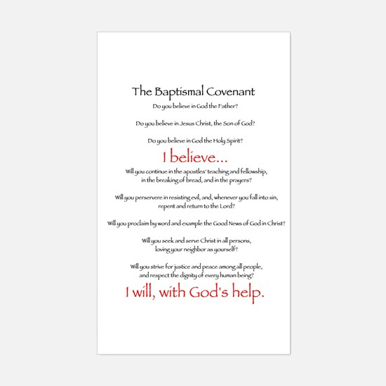 Baptismal Covenant Rectangle Decal