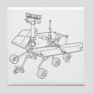 Rover Drawing Large Tile Coaster