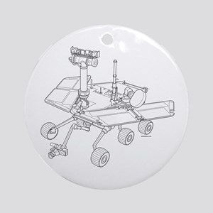 Rover Drawing Large Round Ornament