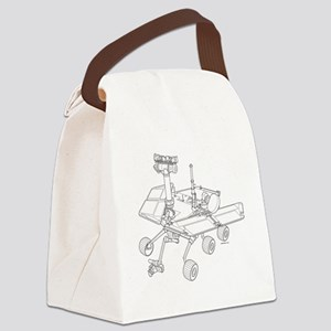 Rover Drawing Large Canvas Lunch Bag