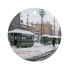 Canal Street Snow Round Ornament
