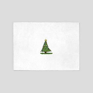 Disgruntled Christmas Tree 5'x7'Area Rug