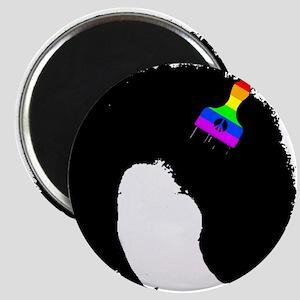 vintage afro american peace sign black afr Magnets
