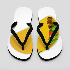 taco mexican food minimalist art Flip Flops