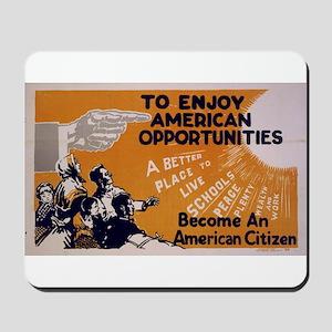 """American Citizen"" Mousepad"