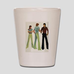 1970s vintage men Shot Glass