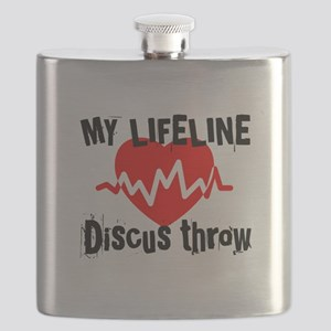 My Life Line Discus Flask